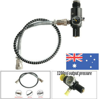 Paintball Air Tank Regulator Thread M18x1.5+50cm Filling Hose Line w/ Connector