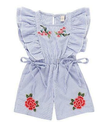 Newborn Toddler Kids Baby Girls Ruffles Romper Bodysuit Jumpsuit Outfits Clothes