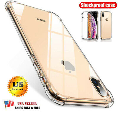 For Apple iPhone 7 8 Plus X XS MAX XR Case Shockproof Silicone TPU Bumper Cover