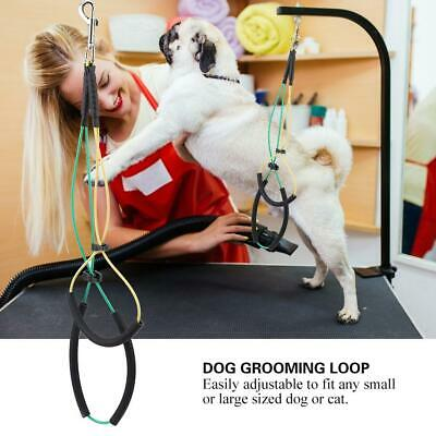 Pet Dog Cat Grooming Table Arm Bath Adjustable Double Noose Loop Ropes SP
