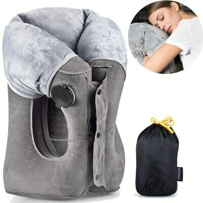 Inflatable Travel Pillow Head Neck Foot Rest Toddler Airplane Car Bus Bed Sleep