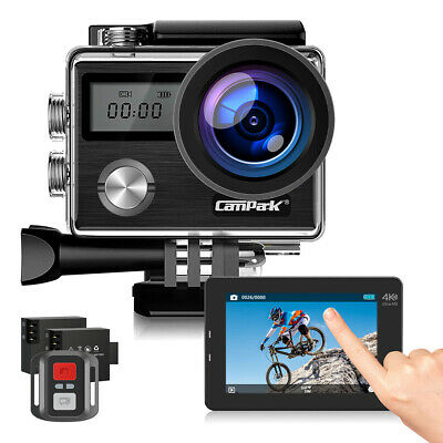 Campark X20 UHK 4K 20MP Action Camera Touch Screen 30M Waterproof Remote Control