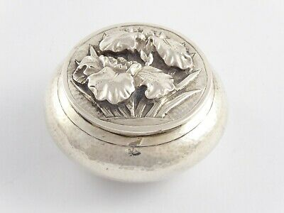 LOVELY ANTIQUE CHINESE EXPORT SOLID SILVER PILL SNUFF BOX LUEN WO c1890 40 g