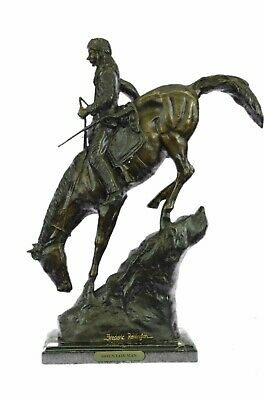 Mountain Man by Frederic Remington Solid Bronze Collectible Sculpture Statue 21