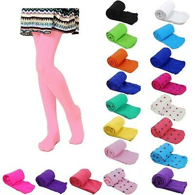 Girls Kids Solid Candy Colors Footed Stockings Leggings Dance Ballet Tight-Pants