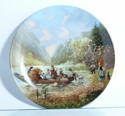 Collection Plate Seltmann Weiden Bergleben at Mountain Lake with Certificate