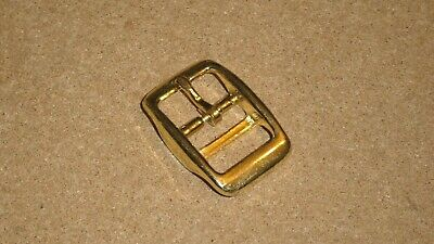 25mm BRASS Cavesson Head Collar/Strap Buckle, Double Bar for Webbing