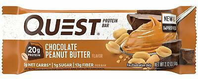 Quest Nutrition Chocolate Peanut Butter Protein Bar, High Protein, Low Carb, ...