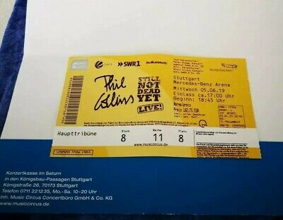 1x PHIL COLLINS Konzert Ticket Stuttgart 05.06.19 Mercedes-Benz Arena