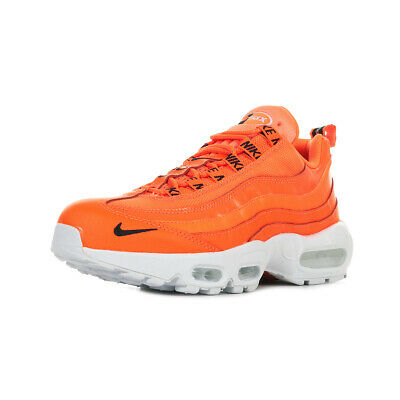 cheaper 18933 e0367 Chaussures Baskets Nike homme Air Max 95 PRM taille Orange Cuir Lacets
