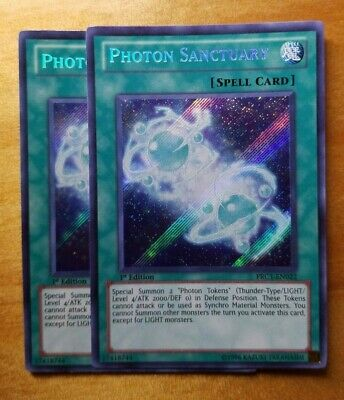 Secret Rare 1st Edition Lightly Played PRC1-EN022 YuGiOh Photon Sanctuary