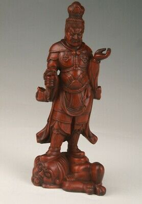 Unique Chinese Boxwood Handmade Carving Buddha Statue Decorative Gift Collec