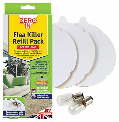 Zero In Flea Trap Killer ZER020 Refill Replacement Light Bulbs & Sticky Pads T20