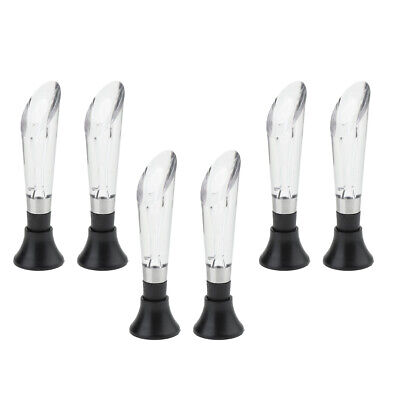 6Pcs Wine Aerator Pourer, Premium Aerating Decanter Spout, Wine Pourer