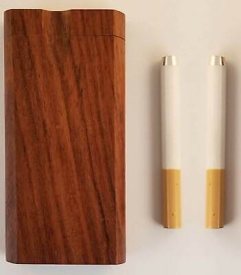 "4"" Wooden Dugout w/ 2 X 3"" Aluminum Cigarette Style One Hitter USA Free Shipping"