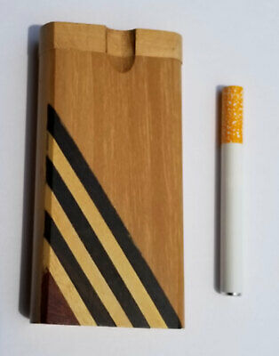 "4"" Wooden Dugout With 3"" Aluminum Cigarette Style One Hitter - Free Shipping"