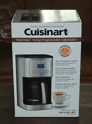 Cuisinart Dcc 3200bks Perfectemp Coffee Maker Black Stainless Steel Filter Coffee Machines