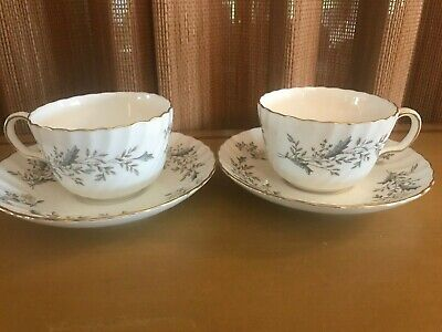 Minton Bone China SEAFORTH - Lot of 2 Cup & Saucer Sets