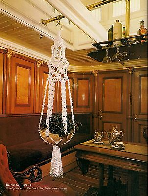 Nautical Knots Plant Hanger Pattern - Craft Book: # Mac800 Macrame by the Bay