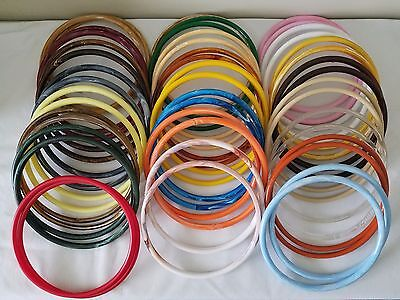 "24 Pair 9"" Round Plastic Marbella Purse Handles Craft Dreamcatcher Rings Hoops"