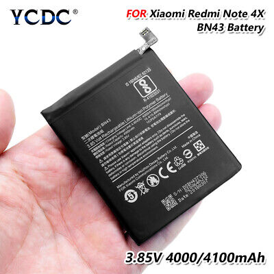 BN43 Battery For Xiaomi Redmi Note 4X 3.85V 4100mAh High Capacity Li-ion Cell 0