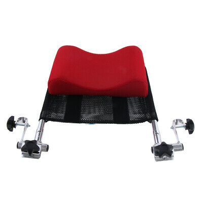 """Adjustable 16""""-20"""" Wheelchair Head Rest Support Cushion Backrest Pillow Red"""
