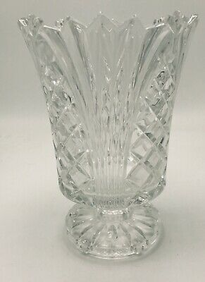 Clear Footed Glass Spooner, Celery Vase, Vase