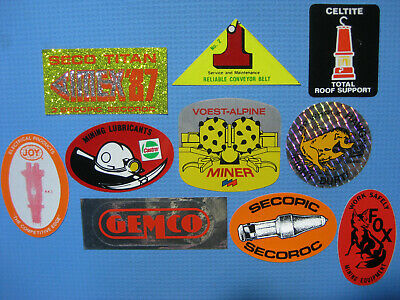 Mining Stickers (Coal Gas Tools Equipment Pumps Bits Rescue Safety Vintage)