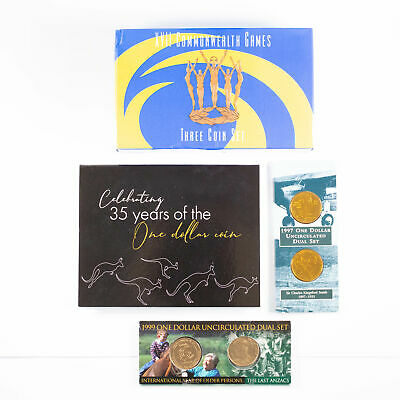 4x 1997 - 2019 Royal Australian Mint Coin Sets $1 & $5 Issues