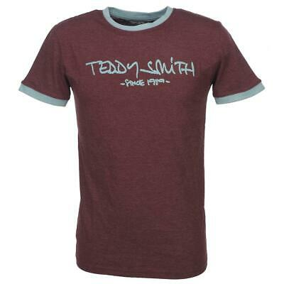 Tee shirt manches courtes Teddy smith Ticlass 3 bdx mel tee mc Rouge 59443 - Neu