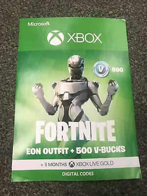 Fortnite EON Outfit + 500 V-Bucks + 3 Months Xbox Live - Physical code posted