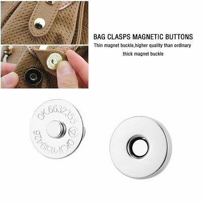 20pcs Bag Purse Clasps Magnetic Buttons Snaps Fasteners Handbag Craft Buttons 2O
