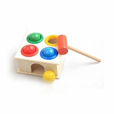 Baby Beat Toys Wooden Hammering Ball Wooden Hammer Box Educational Toy AA