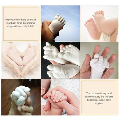 3D Plaster Handprint Footprint Baby Mould Hand&Foot Casting Prints Kit Gift pn