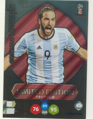 Panini Adrenalyn XL Limited Edition World Cup Russia 2018 Higuain Argentina
