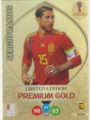 Panini Adrenalyn XL Limited Edition World Cup Russia 2018 Premium Gold Ramos