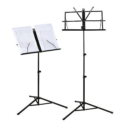 Adjustable Portable Music Conductor Stand Folding Stage Black Iron Tripod Holder