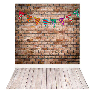 Andoer Photography Backdrop Brick Wall Flag for Baby Studio Portrait Shoot I9A9