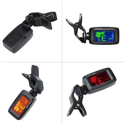 LCD Screen Clip-on Electronic Digital Guitar Tuner Chromatic Bass Violin Ukulele