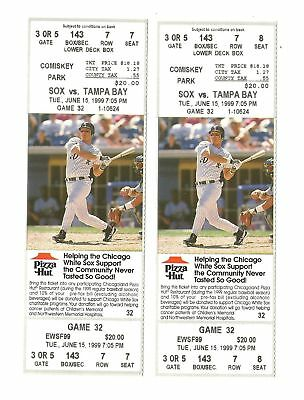 Chicago White Sox Vs Tampa Bay Rays Unused Baseball Tickets From 6/15/1999