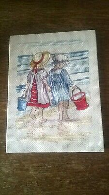 "Completed Cross Stitch 'All Our Yesterdays'  series 8"" X 6"""