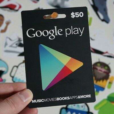 USD$50 Google Play Gift Card - Gmail delivery