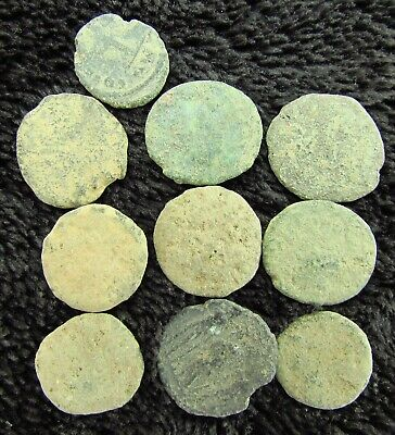 Lot of ROMAN Bronze Coins Metal Detector Find  circa 100 - 300 AD (948)