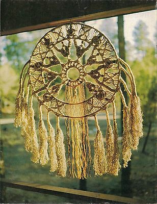 Dream Catcher Pattern in Craft Book: #MM101 Macrame Masterpieces