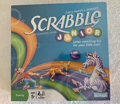 Parker Brothers Scrabble Junior Crossword Game - New Sealed