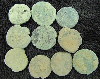 Lot of ROMAN Bronze Coins Metal Detector Find  circa 100 - 300 AD (949)