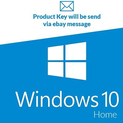 MICROSOFT WINDOWS 10 Home / Win 10 Home License Activation Key Code 32/64  BIT