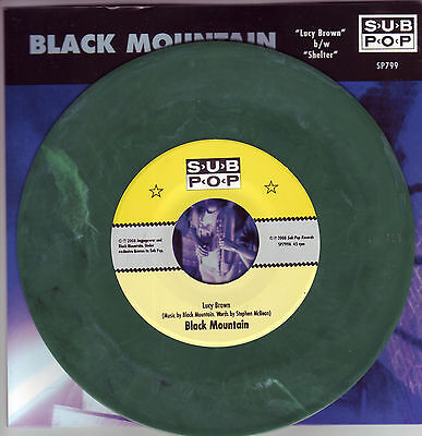 "Black Mountain Lucy Brown b/w Shelter Sub Pop Singles Club 7"" Sold Out"