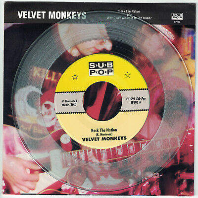 "Velvet Monkeys Rock the Nation w/ Why Don't We 7"" Sub Pop Singles Club Beattles"