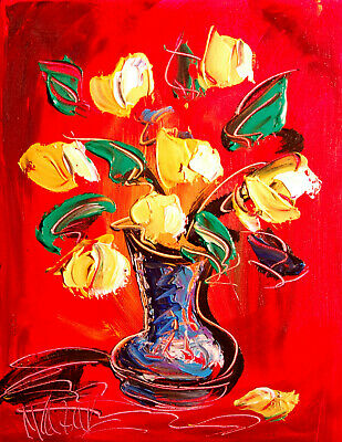 Modern Abstract TULIPS Oil Painting Original Canvas Wall Decor Impressionist
